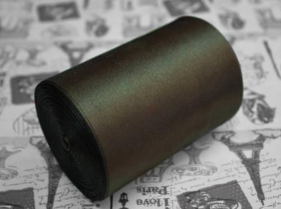 Лента атласная коричневая (ширина 10см, намотка 20м), фото 2