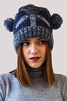 Синяя шапка с изображением панды