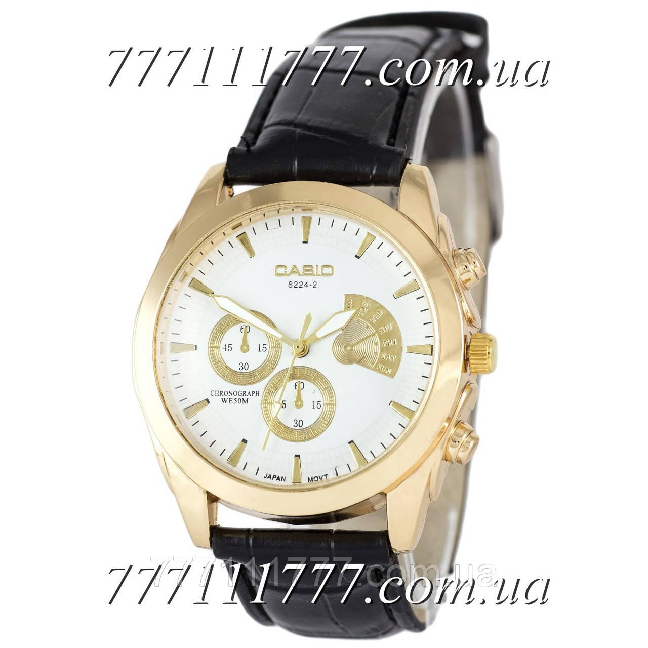12df898815b3 Часы мужские наручные Casio 8224-2 Black-Gold-White  продажа, цена в ...