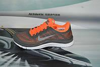 Женские повседневные кроссовки NIKE Free 3.0 V6 оранжево-серые