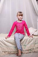 Красивая детская пижама с сердечком для девочки