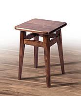 Табурет деревянный Смарт на прямых ножках темный орех