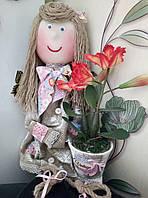 """лялька с вазоном"" декор для вашего дома"