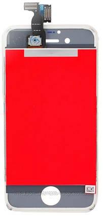 Дисплей (экран) Apple iPhone 4 с тачскрином и рамкой в сборе, white (белый), дисплейный модуль, фото 2
