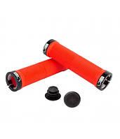Грипсы Green Cycle GC-G201 130mm красный с двумя черными замками