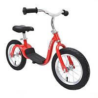 Детский велобег KaZAM Balance Bike, от 2,5 до 5,5 лет, до 30 кг, красный.