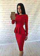Костюм кофта баска, длинный рукав + юбка миди материал кукуруза
