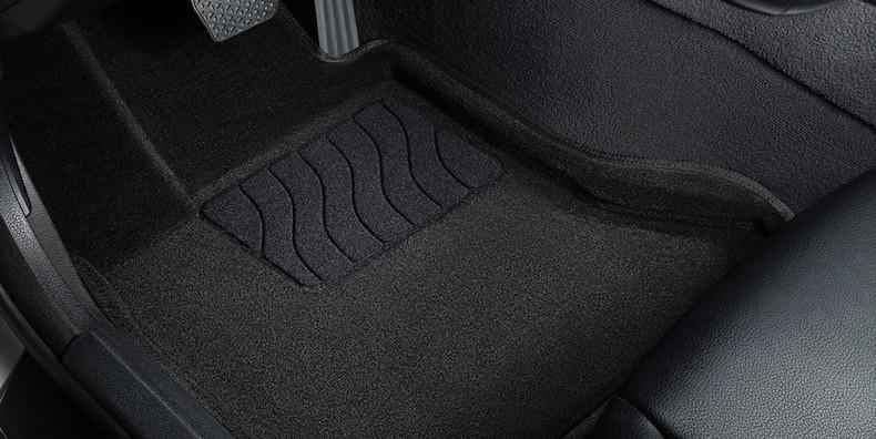 3D коврики в салон текстильные  KIA CERATO Черный 2013-