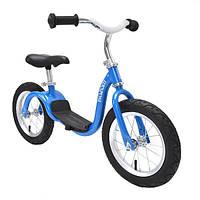 Детский велобег KaZAM Balance Bike, от 2,5 до 5,5 лет, до 30 кг, синий.