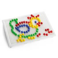 Игрушка мозаика Набор - ДЛЯ ЗАНЯТИЙ МОЗАИКОЙ (10 мм фишки (100 шт.) + доска 22х16)