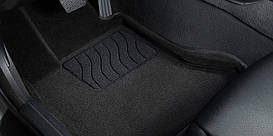 3D коврики в салон текстильные  SKODA OCTAVIA A5 Черный 2008-
