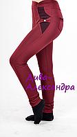 Красивые, нарядные лосины для девочки бордового цвета, размеры 122-146
