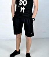 Мужские шорты Nike черные лого вышит ХИТ лето 2017