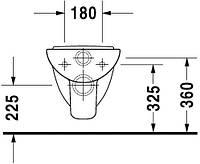 Duravit 221109 D-Code Унитаз подвесной компактный
