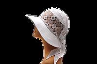 """Женская шляпка  """" Марго белая"""" красивая летняя, модная , оригинальная  с полями молодежная"""