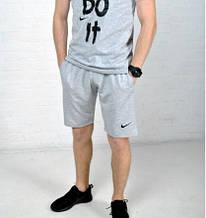 Мужские шорты Nike серые лого вышит ХИТ лето 2017