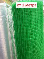 Сетка вольерная зеленая для ограждения кур, циплят и др. домашних животных, на метраж, 1 м ширина