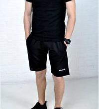 Мужские шорты Reebok черные лого вышит ХИТ лето 2017