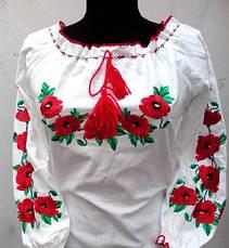 Женское платье вышиванка маки, фото 2