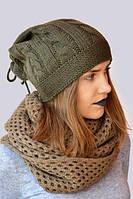 Красивая молодежная шапочка с завязками