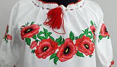 Женское платье вышиванка маки короткий рукав, фото 2