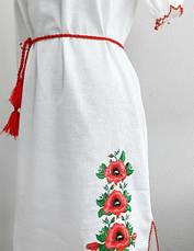 Женское платье вышиванка маки короткий рукав, фото 3