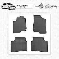 Комплект резиновых ковриков Stingray для автомобиля  Kia Cerato 2009-2013     4шт.
