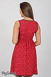 Сарафан для беременных и кормления Bianka SF-27.072, мелкий цветок на бордовом, фото 5