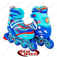 Роликовые коньки раздвижные Zelart Z-5104BO Candy  (PL, PVC, колеса PU, алюм. рама, син-красн)