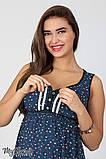 Сарафан для беременных и кормления Bianka SF-27.071, мелкий цветок на темно-синем, фото 3