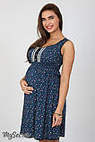 Сарафан для беременных и кормления Bianka SF-27.071, мелкий цветок на темно-синем, фото 4