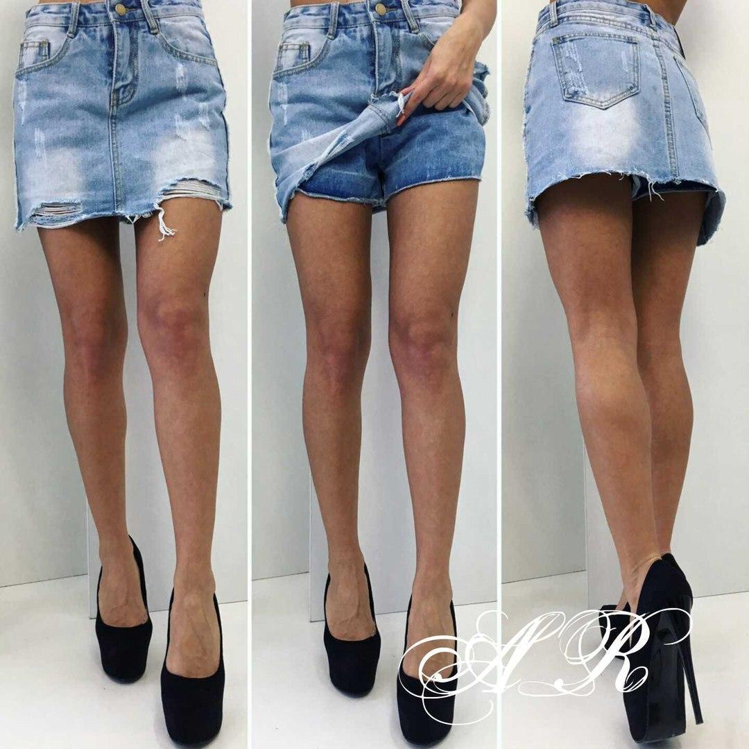 adfd762ca89 Оригинальные женские джинсовые юбка-шорты (плотный джинс