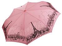 Женский зонт Три Слона Париж розовый ( полный автомат ) арт.197-4