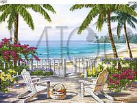 """Схема для вышивки бисером """"Пикник на пляже"""""""