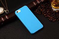 Матовый силиконовый чехол iPhone 4G/4S Blue