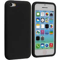 Матовый силиконовый чехол iPhone 5C Black