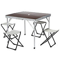 Стол и стулья раскладные 4+1