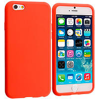 Матовый силиконовый чехол iPhone 7 Plus Red