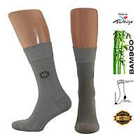 Носки мужские из бамбука Pier Cristo светло-серые 500004