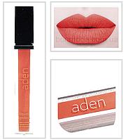 """Aden помада жидкая Суперстойкая Liquid Lipstick """"Crazy Orange"""" с шиммером № 23 (2)"""