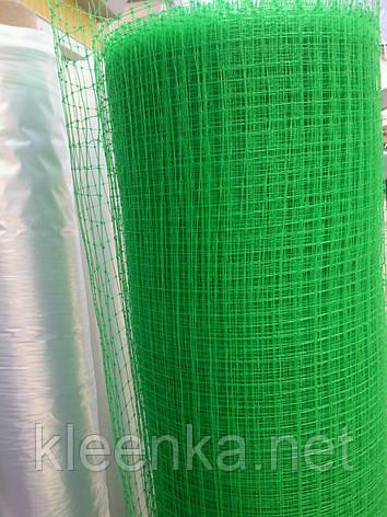 Сетка пластиковая зеленая для заборов и ограждения домашних животных, на метраж, 2 м ширина, фото 2