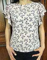 Легкая блузочка с коротким рукавом, разные цвета, S,M,L р-ры, 240/210 (цена за 1 шт. + 30 гр.)