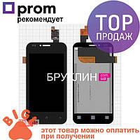 Дисплей для мобильного телефона Fly IQ442 Miracle2 Quad, черный, с тачскрином / Экран для Флай, черного цвета
