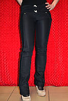Узкие женские чёрные брюки