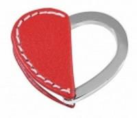 Стильный брелок красное сердечко Elite 013-38