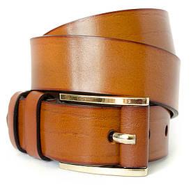 Класичний чоловічий ремінь в коричневому кольорі в стилі Burberry (11244)