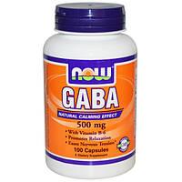 GABA/ГАБА/ГАМК 100 капс  500 мг  для мозгового кровообращения улучшение сна памяти Now Foods USA