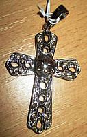 Крест большой в золотистом и серебристом вариантах от студии  LadyStyle.Biz