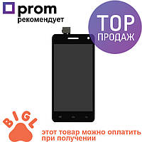 Дисплей для мобильного телефона Fly IQ4512, черный, с тачскрином / Экран для телефона Флай, черного цвета