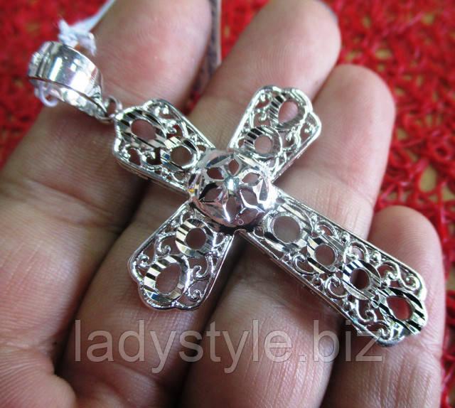 купить серебряный позолоченный крест